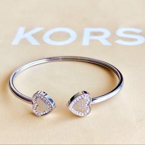 Michael Kors Jewelry Michaels Kors Double Heart Cuff Bracelet